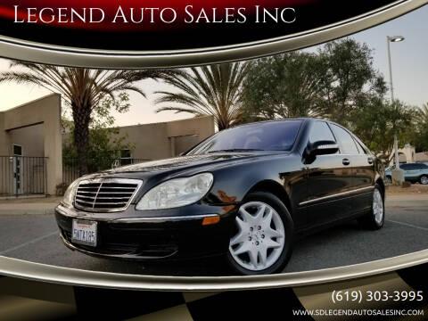 2006 Mercedes-Benz S-Class for sale at Legend Auto Sales Inc in Lemon Grove CA