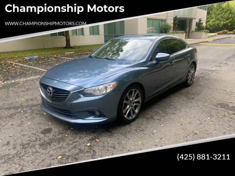 2015 Mazda MAZDA6 for sale at Championship Motors in Redmond WA
