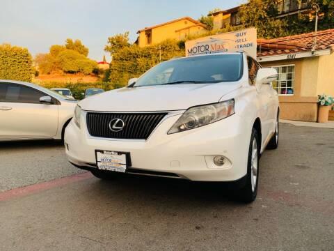 2012 Lexus RX 350 for sale at MotorMax in Lemon Grove CA