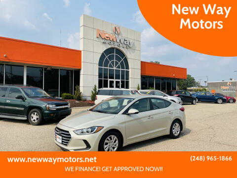 2017 Hyundai Elantra for sale at New Way Motors in Ferndale MI