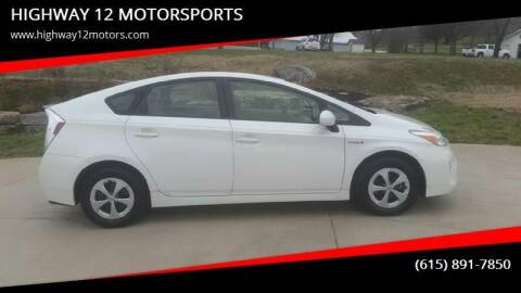 2013 Toyota Prius for sale at HIGHWAY 12 MOTORSPORTS in Nashville TN
