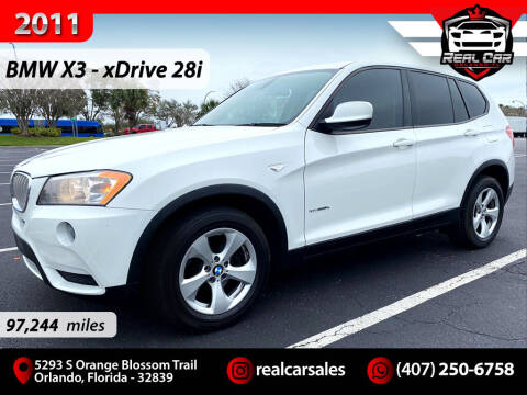2011 BMW X3 for sale at Real Car Sales in Orlando FL
