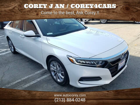 2018 Honda Accord for sale at WWW.COREY4CARS.COM / COREY J AN in Los Angeles CA