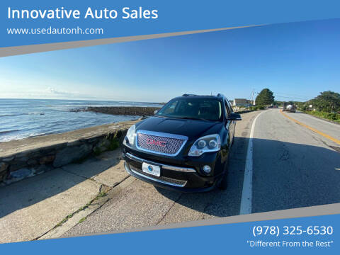 2012 GMC Acadia for sale at Innovative Auto Sales in North Hampton NH