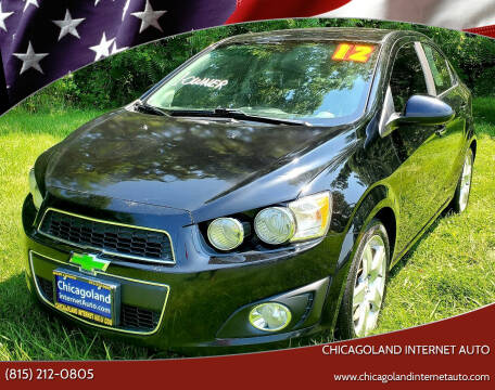 2012 Chevrolet Sonic for sale at Chicagoland Internet Auto - 410 N Vine St New Lenox IL, 60451 in New Lenox IL