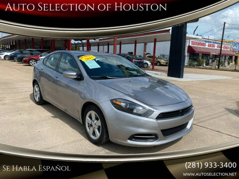 2015 Dodge Dart for sale at Auto Selection of Houston in Houston TX