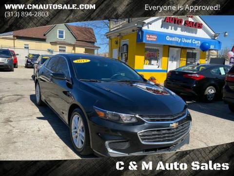 2017 Chevrolet Malibu for sale at C & M Auto Sales in Detroit MI