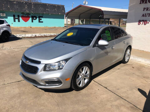2015 Chevrolet Cruze for sale at BRAMLETT MOTORS in Hope AR