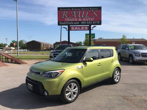 2016 Kia Soul for sale at RAUL'S TRUCK & AUTO SALES, INC in Oklahoma City OK