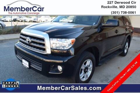 2015 Toyota Sequoia for sale at MemberCar in Rockville MD