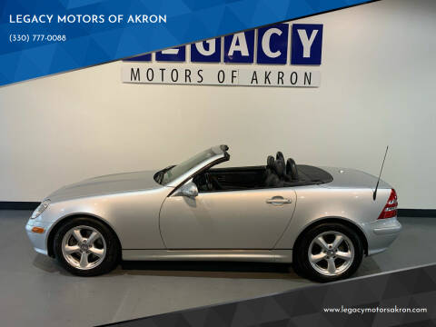 2001 Mercedes-Benz SLK for sale at LEGACY MOTORS OF AKRON in Akron OH