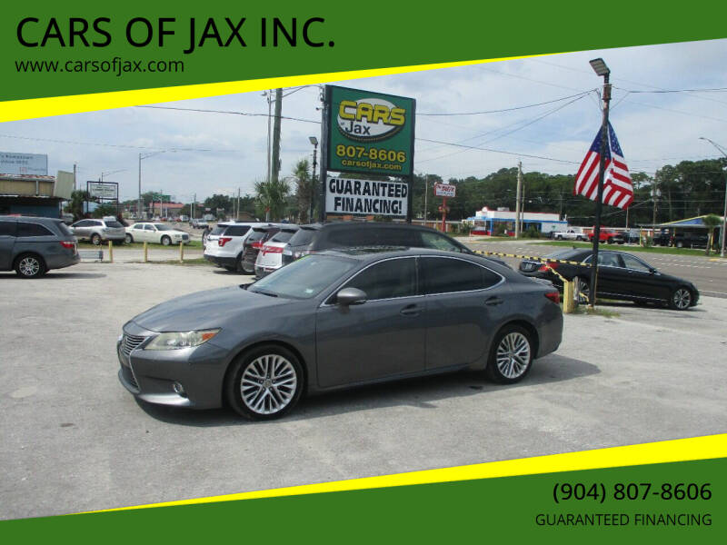 2013 Lexus ES 350 for sale at CARS OF JAX INC. in Jacksonville FL