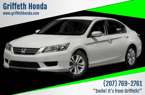 2013 Honda Accord for sale at Griffeth Honda - Pre Owned in Presque Isle ME