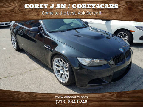 2008 BMW M3 for sale at WWW.COREY4CARS.COM / COREY J AN in Los Angeles CA