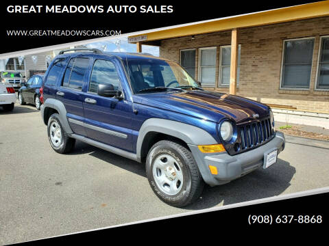 2006 Jeep Liberty for sale at GREAT MEADOWS AUTO SALES in Great Meadows NJ