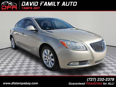 2013 Buick Regal for sale at David Family Auto, Inc. in New Port Richey FL