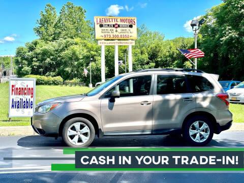 2015 Subaru Forester for sale at Lafayette Motors 2 in Andover NJ