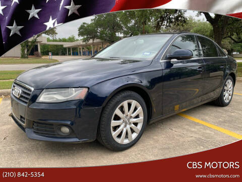 2011 Audi A4 for sale at CBS MOTORS in San Antonio TX
