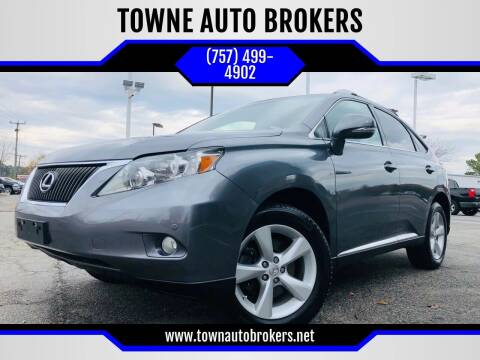 2012 Lexus RX 350 for sale at TOWNE AUTO BROKERS in Virginia Beach VA