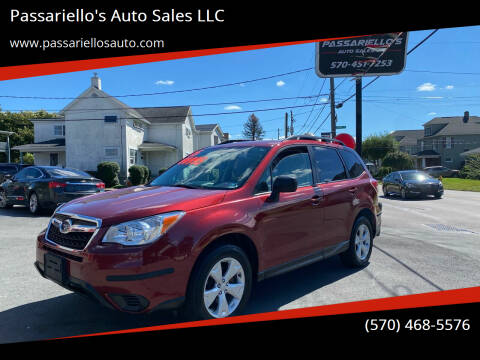 2015 Subaru Forester for sale at Passariello's Auto Sales LLC in Old Forge PA