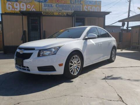 2012 Chevrolet Cruze for sale at DEL CORONADO MOTORS in Phoenix AZ