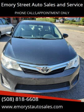 2012 Toyota Camry for sale at Emory Street Auto Sales and Service in Attleboro MA