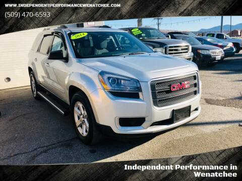 2014 GMC Acadia for sale at Independent Performance Sales & Service in Wenatchee WA