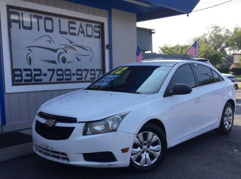 2012 Chevrolet Cruze for sale at AUTO LEADS in Pasadena TX