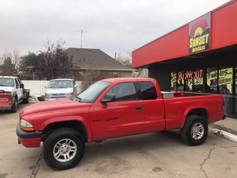 2001 Dodge Dakota for sale at Sunset Auto Sales & Repair in Lasalle CO