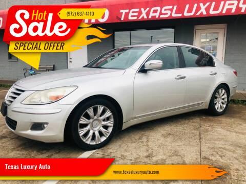 2009 Hyundai Genesis for sale at Texas Luxury Auto in Cedar Hill TX