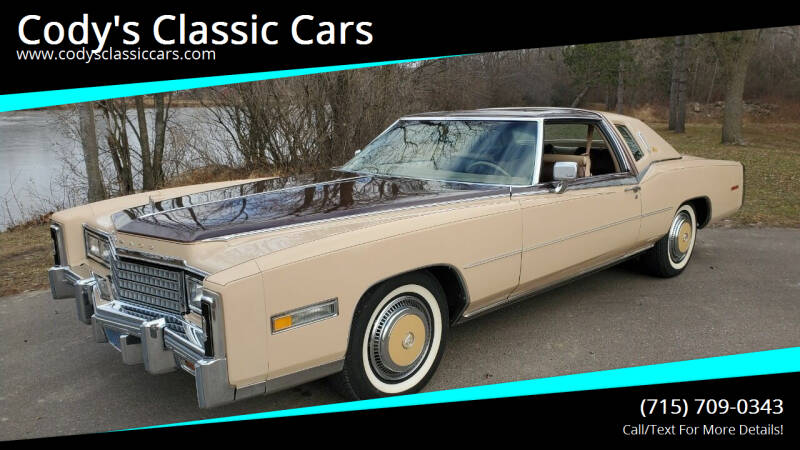 1978 Cadillac Eldorado Biarritz for sale at Cody's Classic Cars in Stanley WI