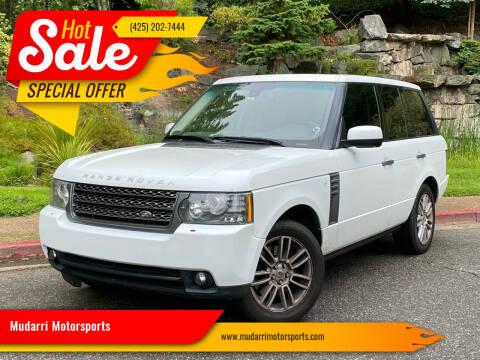 2011 Land Rover Range Rover for sale at Mudarri Motorsports in Kirkland WA