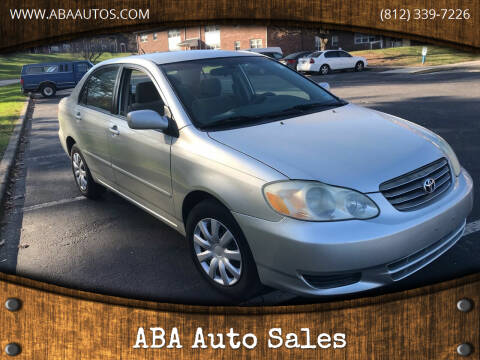 2003 Toyota Corolla for sale at ABA Auto Sales in Bloomington IN