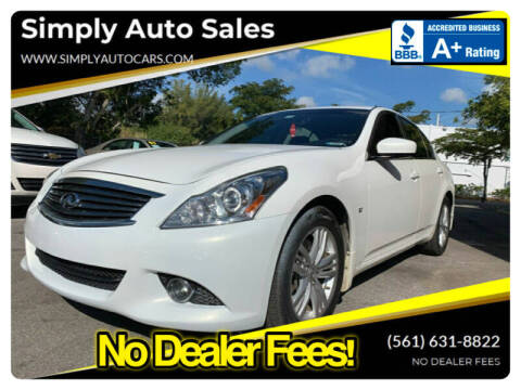 2015 Infiniti Q40 for sale at Simply Auto Sales in Palm Beach Gardens FL