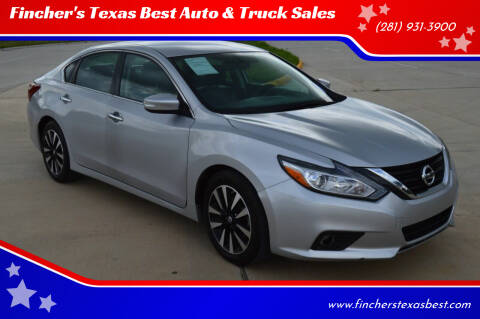2018 Nissan Altima for sale at Fincher's Texas Best Auto & Truck Sales in Tomball TX