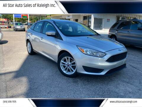 2015 Ford Focus for sale at All Star Auto Sales of Raleigh Inc. in Raleigh NC