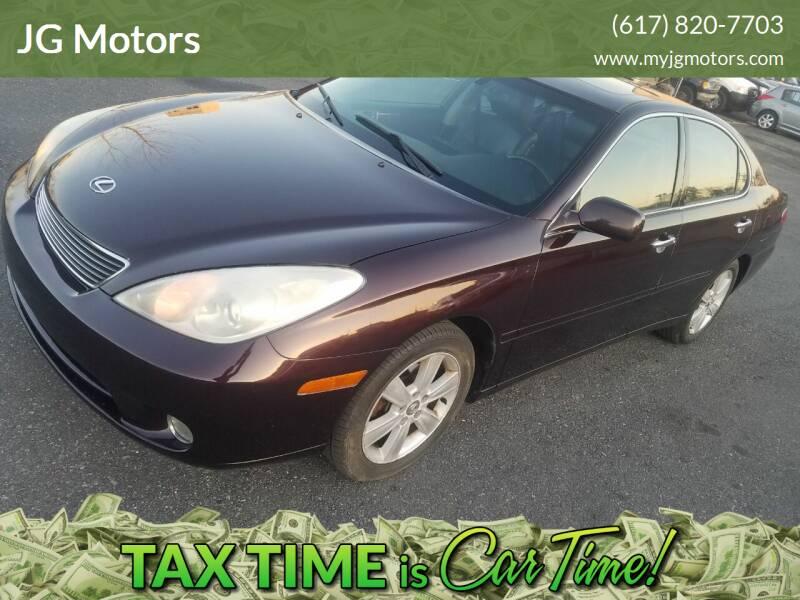 2006 Lexus ES 330 for sale at JG Motors in Worcester MA