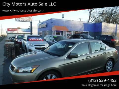 2009 Honda Accord for sale at City Motors Auto Sale LLC in Redford MI