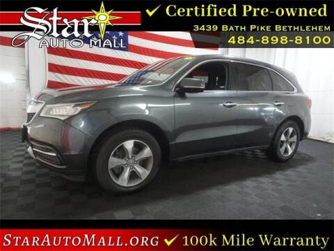 2014 Acura MDX for sale at STAR AUTO MALL 512 in Bethlehem PA