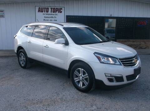 2015 Chevrolet Traverse for sale at AUTO TOPIC in Gainesville TX