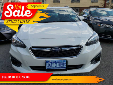 2018 Subaru Impreza for sale at LUXURY OF QUEENS,INC in Long Island City NY