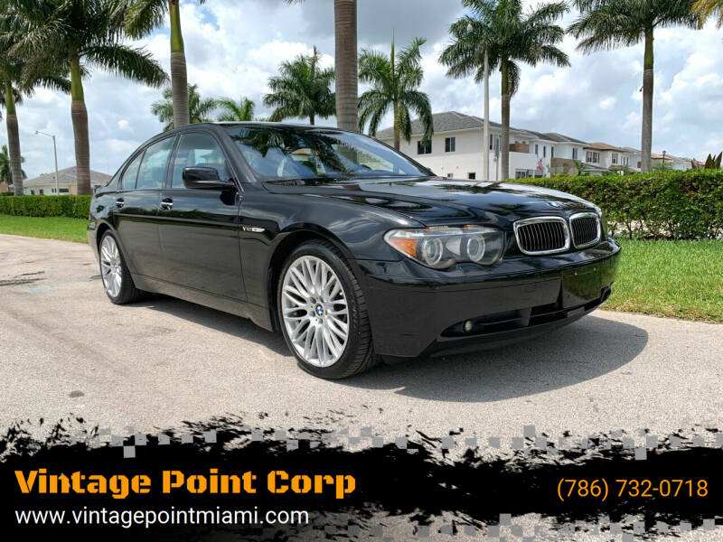 2005 BMW 7 Series for sale at Vintage Point Corp in Miami FL