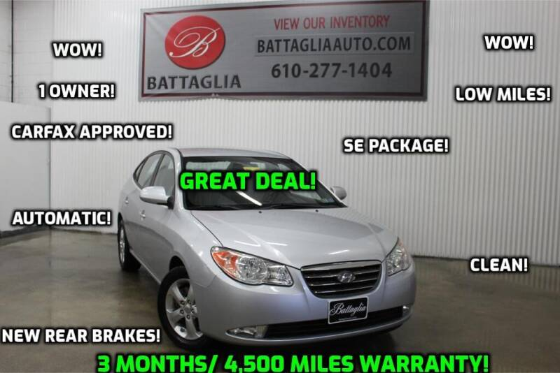 2009 Hyundai Elantra for sale at Battaglia Auto Sales in Plymouth Meeting PA