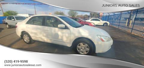 2005 Honda Accord for sale at Juniors Auto Sales in Tucson AZ