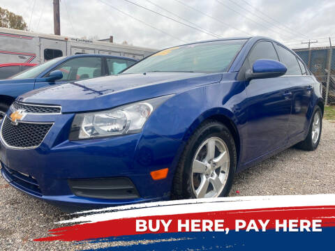 2012 Chevrolet Cruze for sale at WINNERS CIRCLE AUTO EXCHANGE in Ashland KY