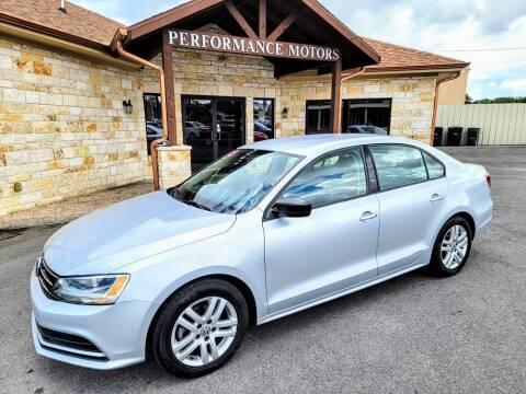 2015 Volkswagen Jetta for sale at Performance Motors Killeen Second Chance in Killeen TX