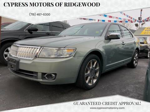 2008 Lincoln MKZ for sale at Cypress Motors of Ridgewood in Ridgewood NY