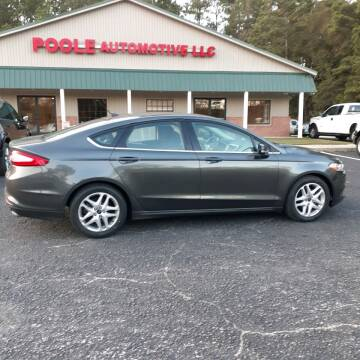 2016 Ford Fusion for sale at Poole Automotive in Laurinburg NC