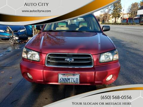 2004 Subaru Forester for sale at Auto City in Redwood City CA