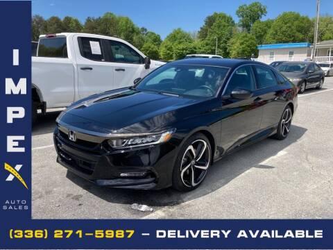 2020 Honda Accord for sale at Impex Auto Sales in Greensboro NC
